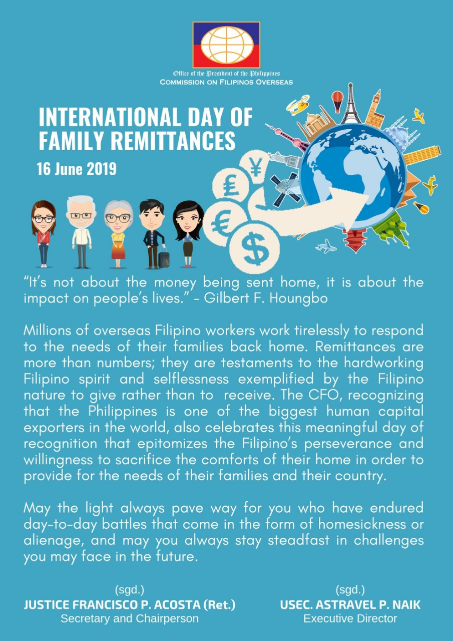 int day of remittance 2019
