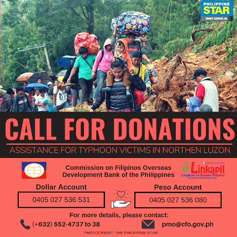 call for donations typhoon ompong092018